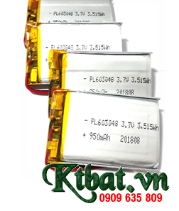 Pin li-polymer Bộ đàm Pin sạc 3.7v LP603048-950mAh (6.0mmx30mmx48mm) chính hãng