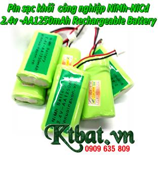 Pin sạc 2.4v-AA1250mAh, Pin sạc khối 2.4v-AA1250mAh, Pin sạc công nghiệp NiMh-NiCd 2.4v-AA1250mAh