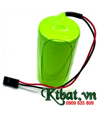 Pin sạc 1.2v NiMh D5000mAh, Pin sạc công nghiệp đầu bằng NiMh 1.2v-D5000mAh chính hãng