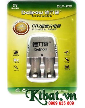 Máy sạc pin CR2 Delipow DLP-203, sạc được 1 đến 2 pin CR2