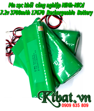 Pin sạc 7.2v-3700mAh, Pin sạc khối 7.2v-3700mAh, Pin sạc công nghiệp NiMh-NiCd 7.2v-3700mAh