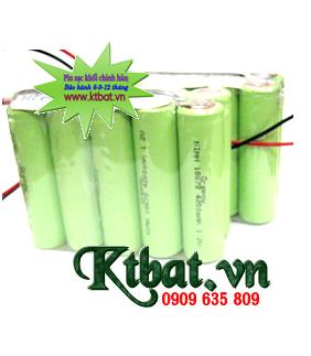 Pin sạc 9.6v-18670-4200mAh; Pin sạc công nghiệp 9.6v-18670-4200mAh; Pin sạc NiMh-NiCd 9.6v-18670-4200mAh
