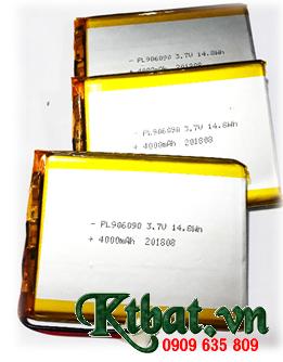 Pin sạc 3.7v Li-polymer LP906090-4000mAh (9.0mmx60mmx90mm) chính hãng